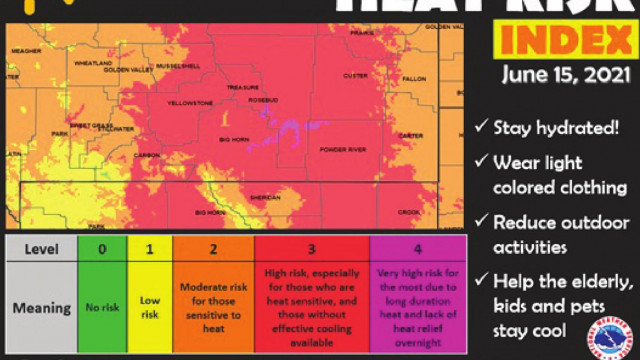 Extreme heat brings early fire warning to area