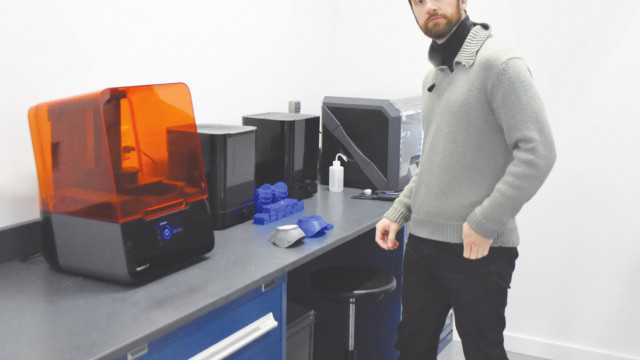 Local machine shop 3D printing masks for donation to hospitals
