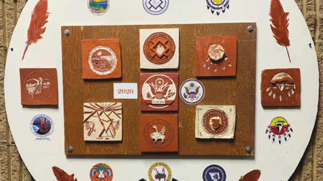 Native American Heritage project now on display